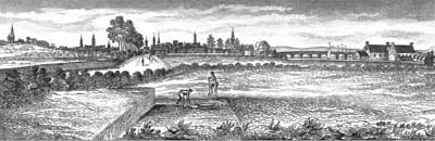 Walking in toward Grahamston from Anderston in the mid-1700s