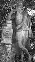 Statue of Shakespeare that adorned the Alston Theatre in Grahamston in 1764